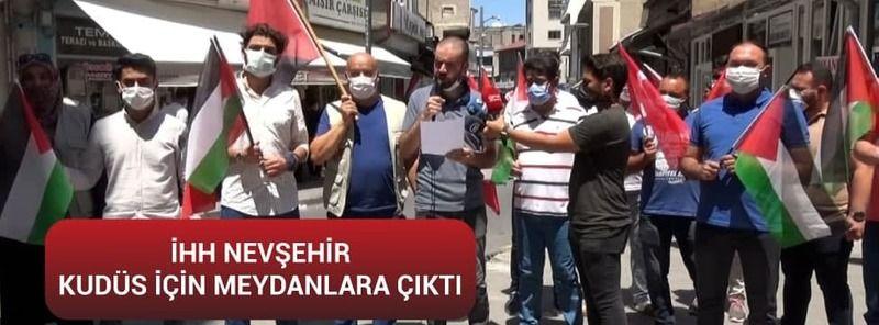 İHH Nevşehir Yönetim Kurulu Üyesi Mücahit Yeğen Genç Kudüs İçin Meydanlara Çıktı