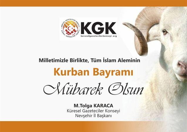 KGK Başkanı Karaca Kurban Bayramını Kutladı
