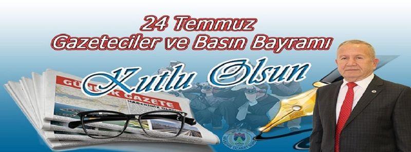 Başkan Salaş'ın, 24 Temmuz Gazeteciler ve Basın Bayramı Mesajı