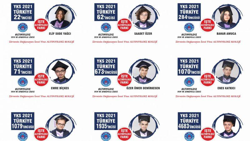 Altınyıldız Fen ve Anadolu Lisesinden 2021 Üniversite Sınavında Muhteşem Başarı