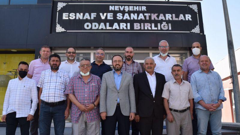 Ak Parti İl Başkanı Ali  Kemikkıran Esnaf ve Sanatkarlar Odaları Birliğini Ziyaret Etti