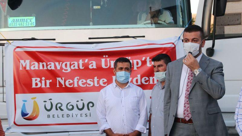Ürgüp'ten Manavgat'a Yardım Tırı Gönderildi!