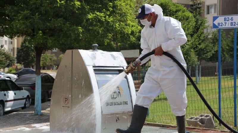 Nevşehir'de Çöp Konteynerları Dezenfekte Ediliyor!