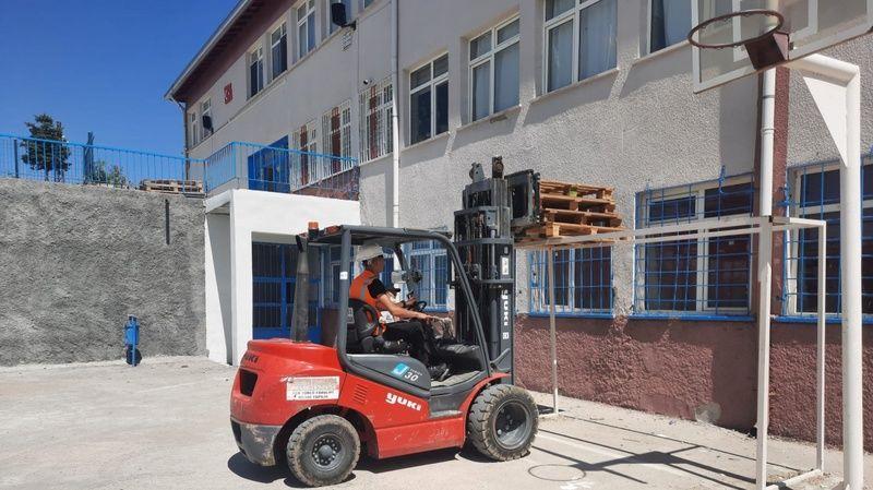 Nevşehir HEM'in Kavak'ta Açtığı Forklift Kursu Uygulama Aşamasında