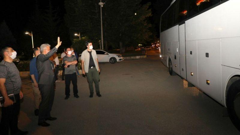Erzincan'dan Nevşehir'e  35 Kişilik Kafile Uğurlandı