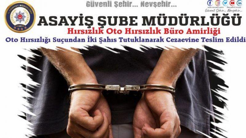 Nevşehir'de Otomobil Hırsızları Tutuklandı