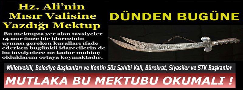 Günümüzde Nevşehir'deki Siyasi ve Bürokratların Defalarca Okuması Gereken Mektup!
