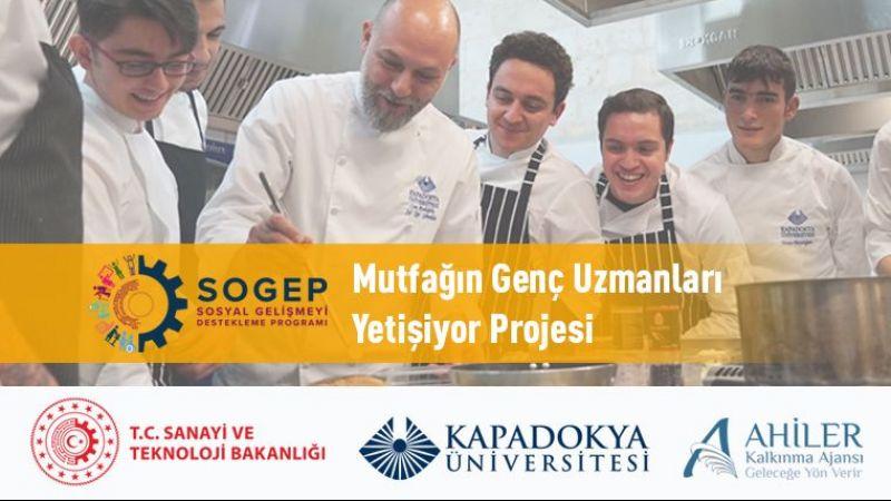 """Kapadokya Üniversitesinin """"Mutfağın Genç Uzmanları Yetişiyor"""" Projesine SOGEP'ten Destek"""