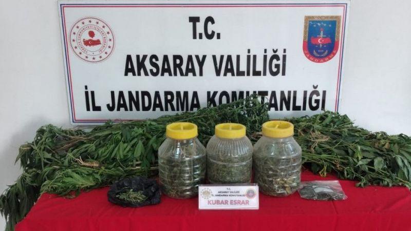 Komşu İl Aksaray'da Köy Evine Kenevir Operasyonu
