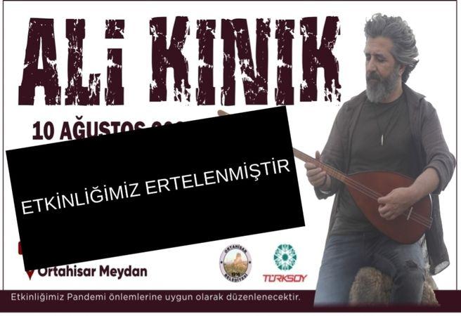 Ortahisar Belediyesi Ali Kınık Konserini İptal Etti