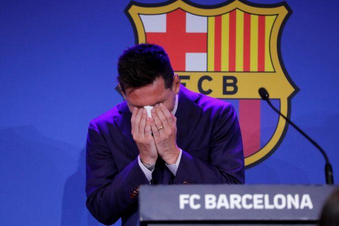 Messi, Barcelona'ya Göz Yaşlarıyla Veda Etti