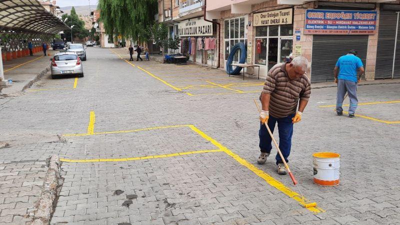Avanos'da Pazar Yeri Çizgileri Yenileniyor