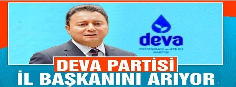 DEVA Partisi Heyeti İl Başkanını Seçmek İçin Nevşehir'e Gelecek