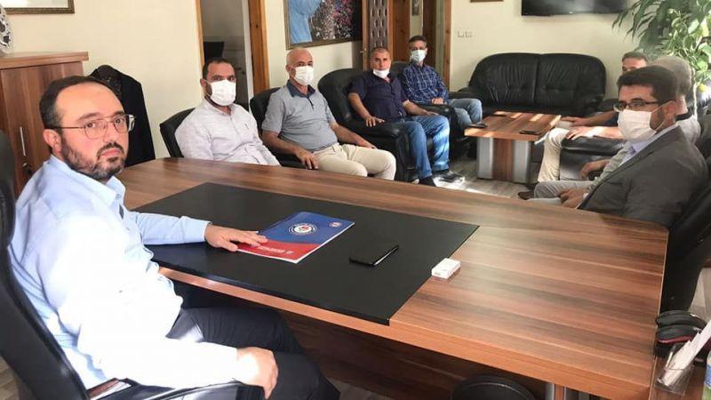 Memur-Sen Heyetinden AK Parti İl Başkanlığı'na Ziyaret