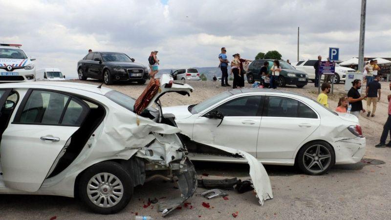 Ürgüp'te Trafik Kazası! 2 yaralı