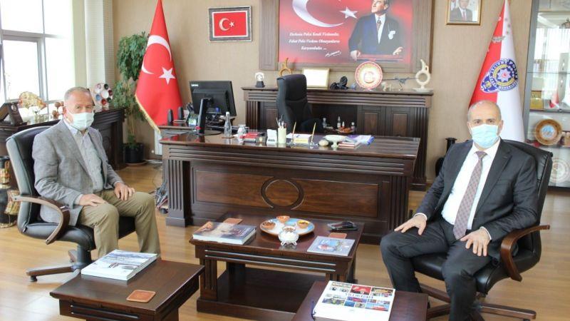 Başkan Salaş'dan İl Emniyet Müdürü Artunay'a Ziyaret!