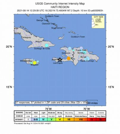 Haiti'de 7.2 Şiddetinde Deprem