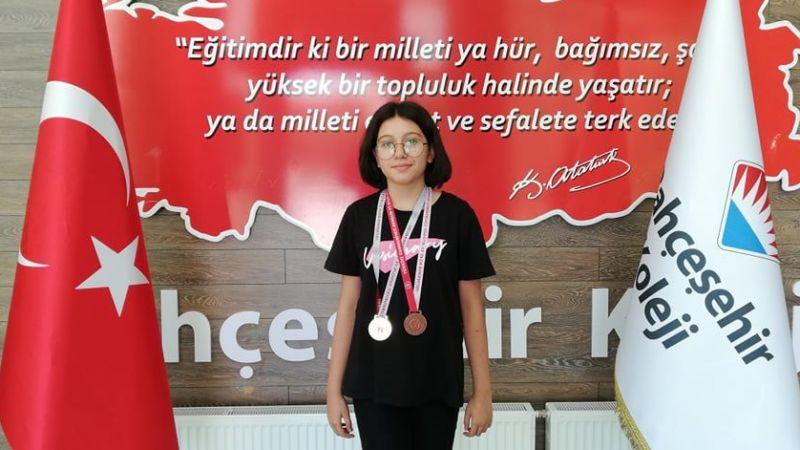 Bahçeşehir Koleji Öğrencisi Cemre Su Çetin Nevşehir 1.si Oldu