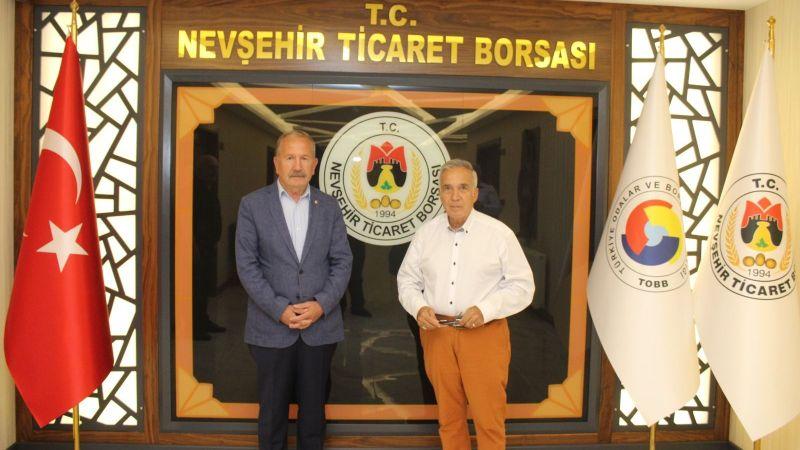 Gazeteci Yavuz Donat Nevşehir Ticaret Borsası'nı Ziyaret Etti