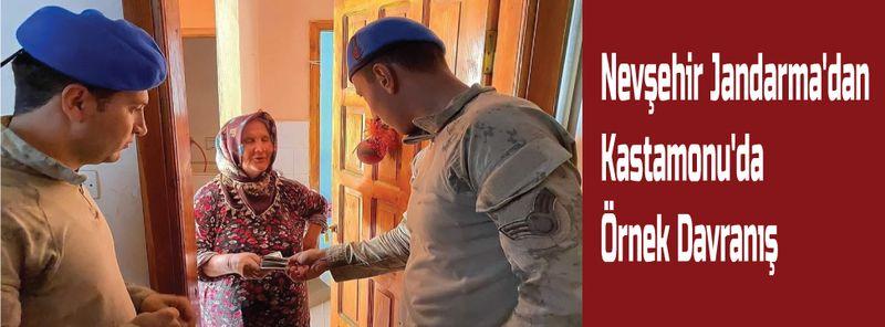 Nevşehir Jandarma'dan Kastamonu'da Örnek Davranış