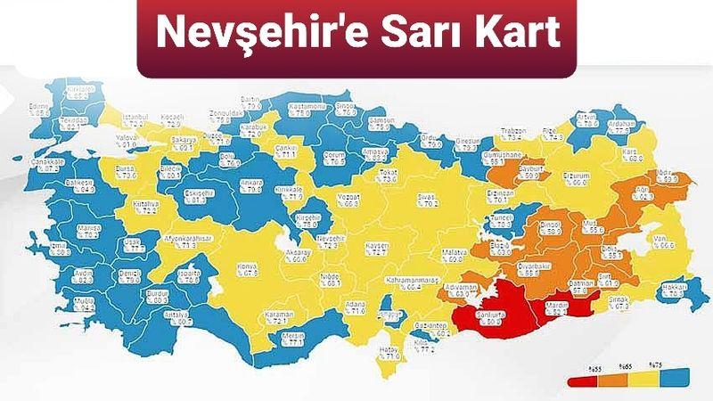Nevşehir'e Koronada Sarı Kart!
