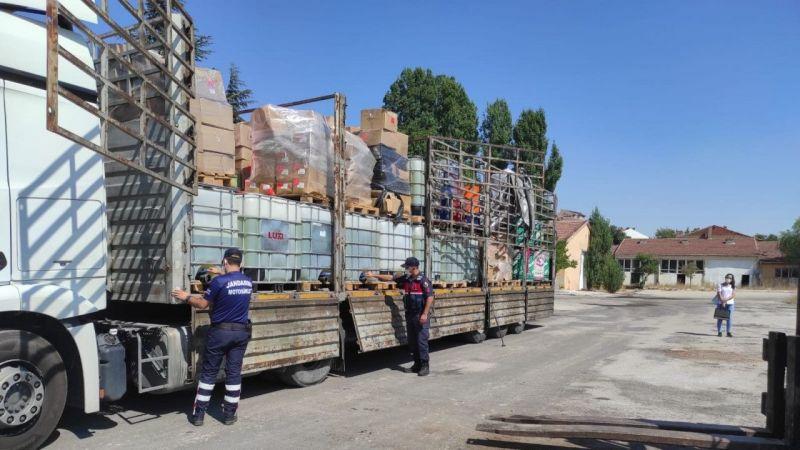 Tır Dorsesinde Nevşehir'e Getirilen 5 Ton Kaçak Benzin Yakalandı