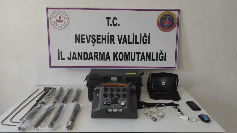 Gülşehir'de İzinsiz Kazı Yapan Şahıslar Suçüstü Yakalandı