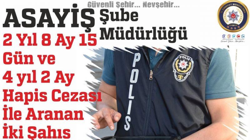Nevşehir Emniyeti Aranan 2 Şahsı Yakaladı