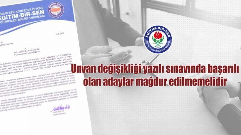 """""""Sınavda Başarılı Olan Adaylar Mağdur Edilmemeli"""""""