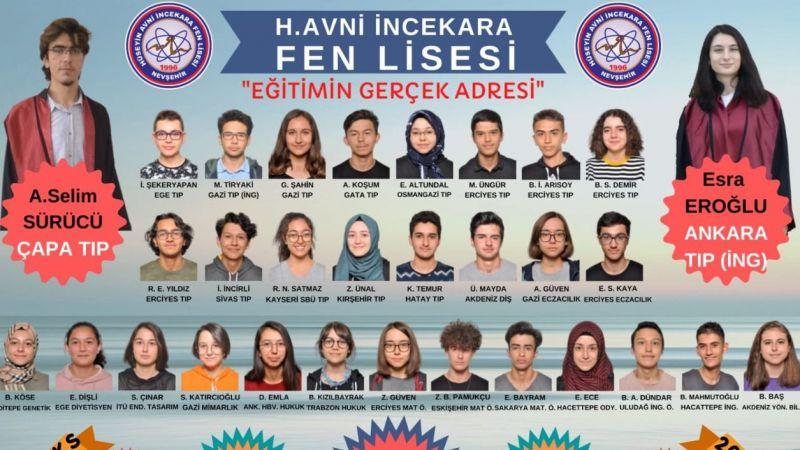 Nevşehir'in En Başarılı Devlet Okulu H.Avni İncekara Fen Lisesi