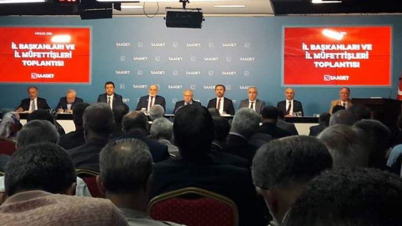 Saadet Partisi Eylül Ayı İl Başkanları Toplantısı Yapıldı