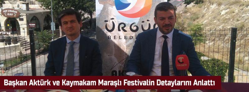 Başkan Aktürk ve Kaymakam Maraşlı Festivalin Detayları Anlattı