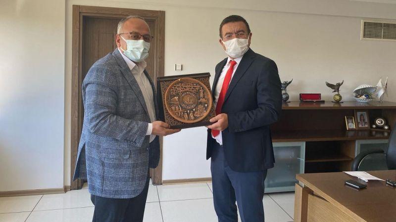 Başkan Aksoy, MEDAŞ Genel Müdürünü Ziyaret Etti