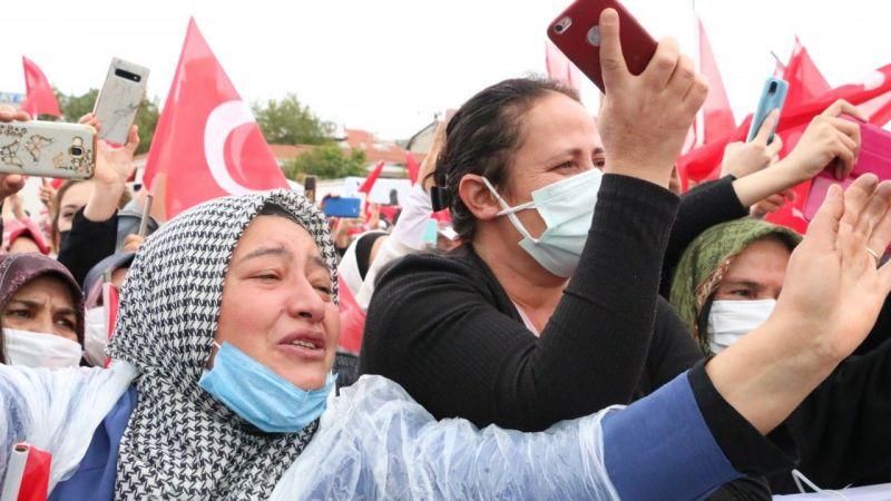 Erdoğan'ı Gören Vatandaş Gözyaşlarını Tutamadı!