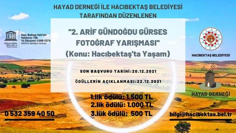 Hacıbektaş Belediyesi Fotoğraf Yarışması Düzenliyor