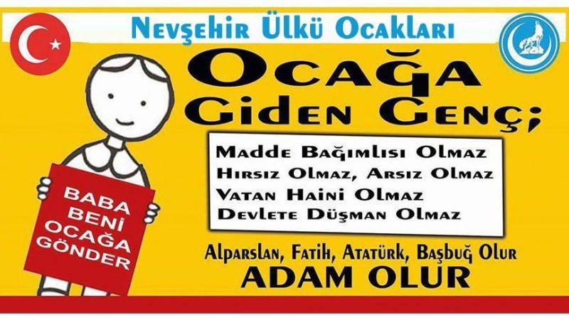 Nevşehir Ülkü Ocakları'ndan 'Baba Beni Ocağa Gönder' Projesi