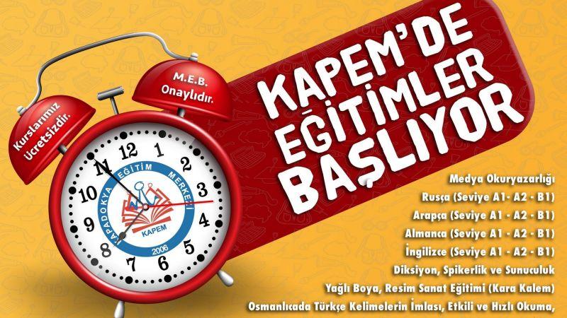 KAPEM'de  46. Dönem Kursları 27 Eylül'de Başlıyor