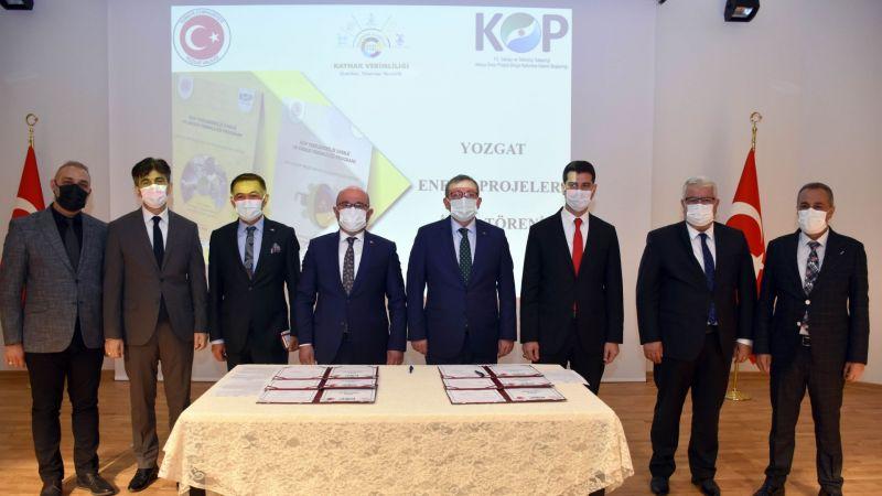 KOP Enerji Verimliliği 2021 Projeleri Yozgat'ta İmzalandı