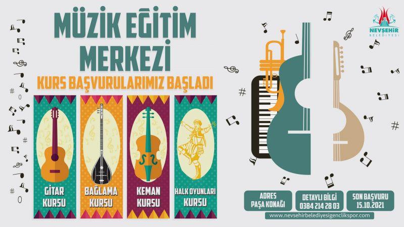 Nevşehir Belediyesinin Müzik Eğitim Merkezi'nde Kurslar Başlıyor