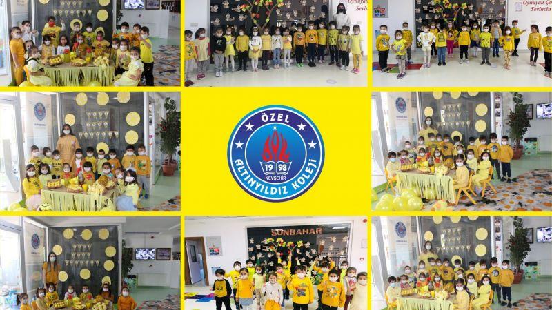 Altınyıldız Anaokulu Sonbaharı Sarı Renklerle Karşıladı