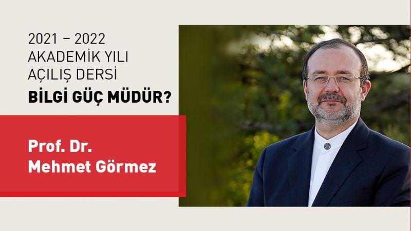 Kapadokya Üniversitesi Akademik Yılı Açılış Dersini Mehmet Görmez Yaptı