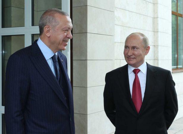 Erdoğan ile Putin'in Görüşmesi Sona Erdi