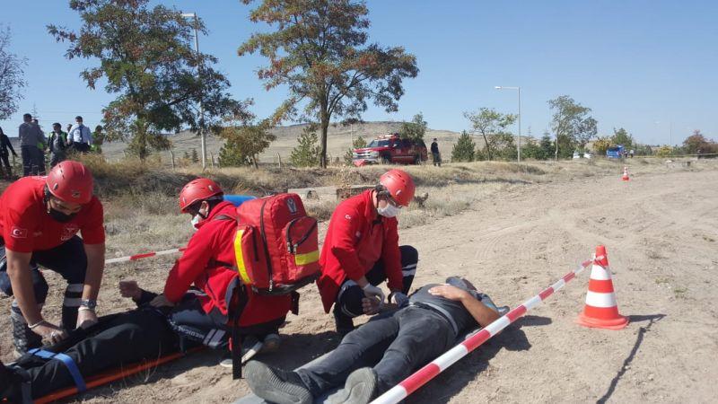 Kapadokya Havalimanı'nda Uçak Kazası Tatbikatı