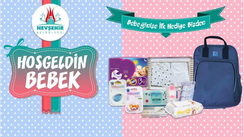 Yeni Doğan Bebeklere Nevşehir Belediyesinden Hoş Geldin Hediyesi