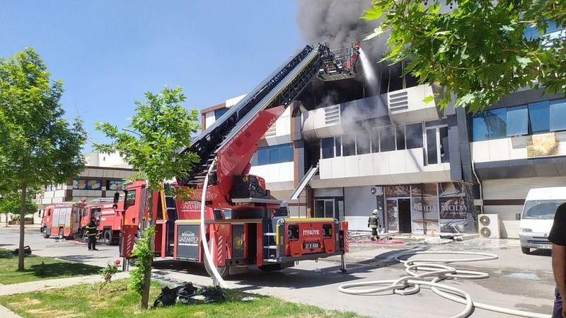 Gaziantep GATEM kunduracılar sitesinde yangın