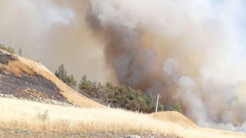 Gaziantep sınırında yangın