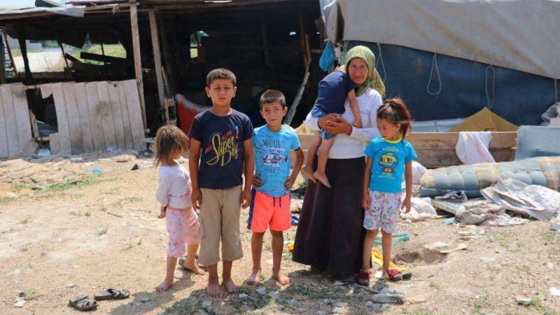 Çadırda yaşıyorlar, 7 bin lira su borçları var
