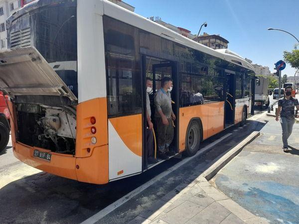 Gaziantep'te bayan şoförün dikkati faciayı önledi