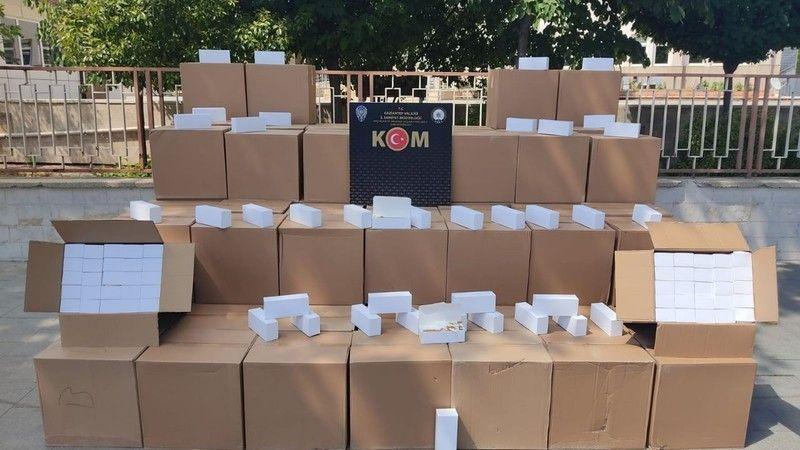 Gaziantep'te bir milyon adet daha yakalandı