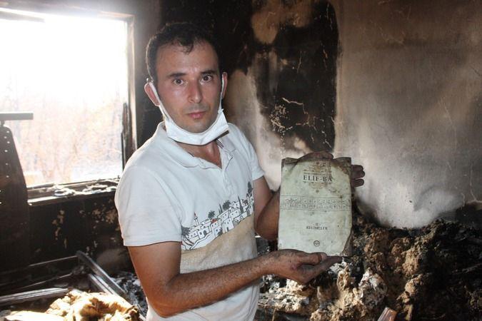 Büyük yangında bir tek Kur'an-ı Kerimler zarar görmedi